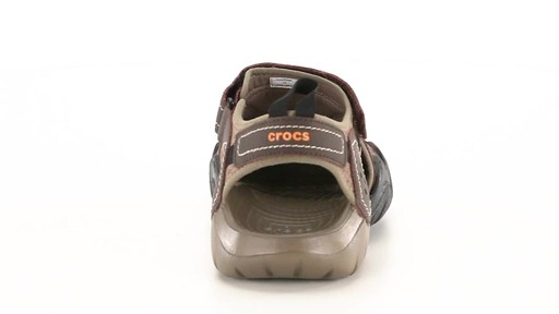 Crocs Men's Swiftwater Leather Fisherman Sandals 360 View - image 8 from the video