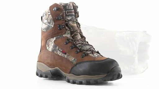 Guide Gear Men's Sentry 2000 Gram Waterproof Hunting Boots 360 View - image 7 from the video