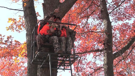 Guide Gear 17 1/2' Deluxe 2 Man Hunting Ladder Tree Stand - image 2 from the video