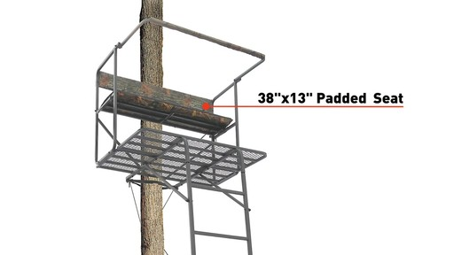 Guide Gear 17 1/2' Deluxe 2 Man Hunting Ladder Tree Stand - image 5 from the video