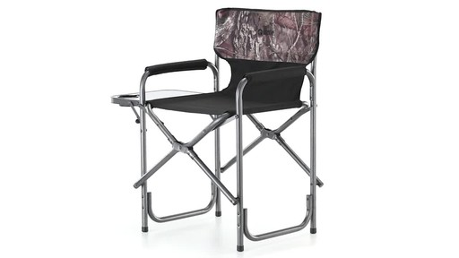 Guide Gear Oversized Mossy Oak Break-Up COUNTRY Camo Tall Director's Chair 500 lb. Capacity 360 View - image 1 from the video