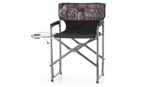 Guide Gear Oversized Mossy Oak Break-Up COUNTRY Camo Tall Director's Chair 500 lb. Capacity 360 View - image 2 from the video