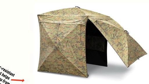 Guide Gear Deluxe 5-hub Digital Camo Blind - image 4 from the video