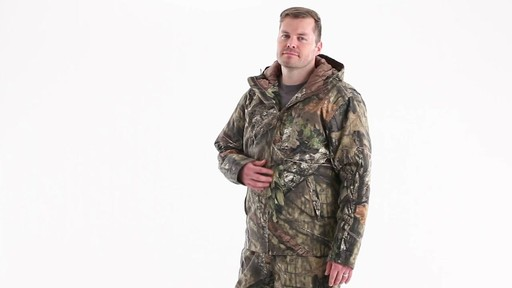 Guide Gear Men's Insulated Silent Adrenaline Hunting Jacket 360 View - image 7 from the video