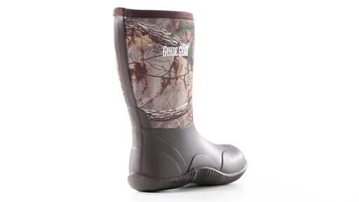 Guide Gear Men's Mid Camo Waterproof Rubber Boots Realtree Xtra 360 View - image 1 from the video