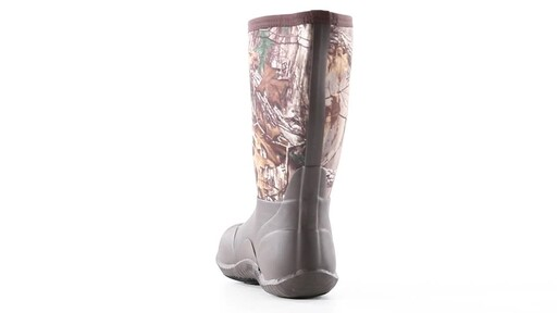 Guide Gear Men's Mid Camo Waterproof Rubber Boots Realtree Xtra 360 View - image 2 from the video