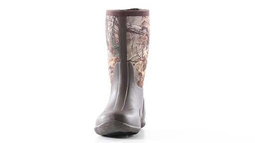 Guide Gear Men's Mid Camo Waterproof Rubber Boots Realtree Xtra 360 View - image 5 from the video