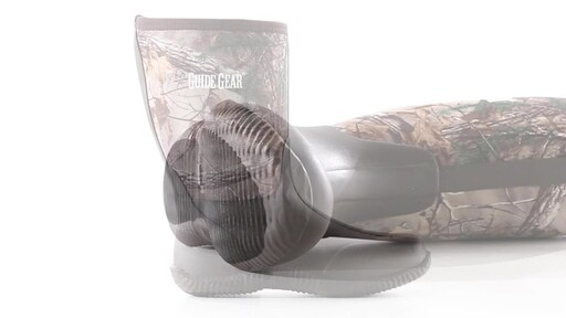 Guide Gear Men's Mid Camo Waterproof Rubber Boots Realtree Xtra 360 View - image 7 from the video