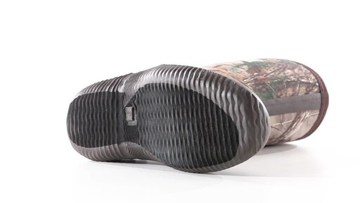 Guide Gear Men's Mid Camo Waterproof Rubber Boots Realtree Xtra 360 View - image 8 from the video