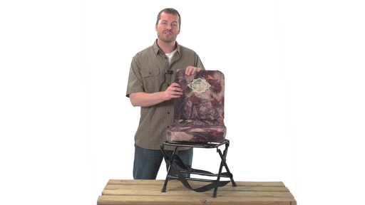 Guide Gear Swivel Hunting Chair Black - image 2 from the video