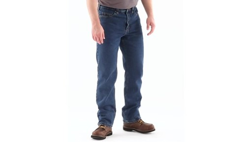 Guide Gear Men's Flannel-Lined Denim Jeans 360 View - image 1 from the video