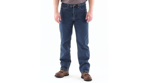 Guide Gear Men's Flannel-Lined Denim Jeans 360 View - image 10 from the video