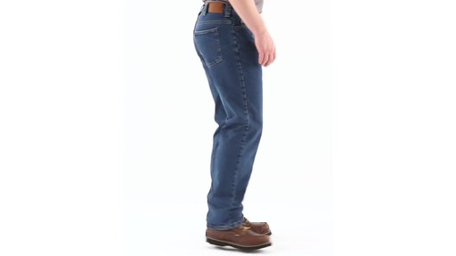 Guide Gear Men's Flannel-Lined Denim Jeans 360 View - image 2 from the video