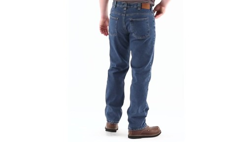 Guide Gear Men's Flannel-Lined Denim Jeans 360 View - image 3 from the video