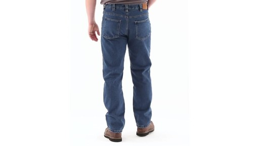 Guide Gear Men's Flannel-Lined Denim Jeans 360 View - image 4 from the video