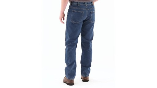 Guide Gear Men's Flannel-Lined Denim Jeans 360 View - image 5 from the video