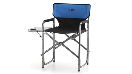 Guide Gear Oversized Tall Directors Chair Blue 500-lb. Capacity - image 1 from the video