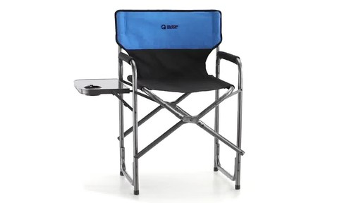 Guide Gear Oversized Tall Directors Chair Blue 500-lb. Capacity 360 View - image 2 from the video