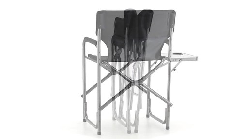 Guide Gear Oversized Tall Directors Chair Blue 500-lb. Capacity - image 6 from the video