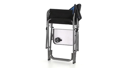 Guide Gear Oversized Tall Directors Chair Blue 500-lb. Capacity 360 View - image 7 from the video
