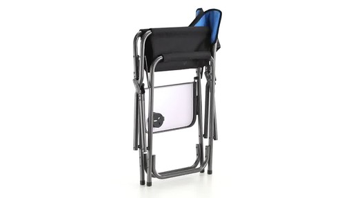 Guide Gear Oversized Tall Directors Chair Blue 500-lb. Capacity 360 View - image 8 from the video