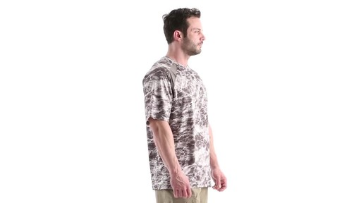 Guide Gear Men's Performance Fishing Short Sleeve Shirt Mossy Oak Elements Agua 360 View - image 2 from the video
