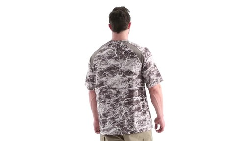 Guide Gear Men's Performance Fishing Short Sleeve Shirt Mossy Oak Elements Agua 360 View - image 4 from the video