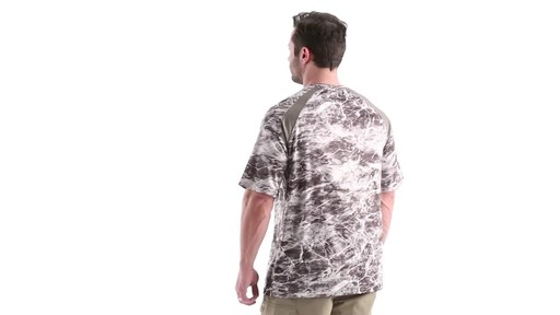 Guide Gear Men's Performance Fishing Short Sleeve Shirt Mossy Oak Elements Agua 360 View - image 5 from the video