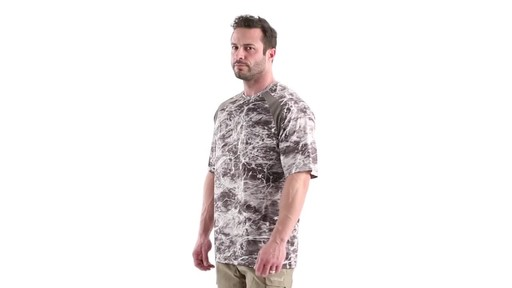 Guide Gear Men's Performance Fishing Short Sleeve Shirt Mossy Oak Elements Agua 360 View - image 7 from the video