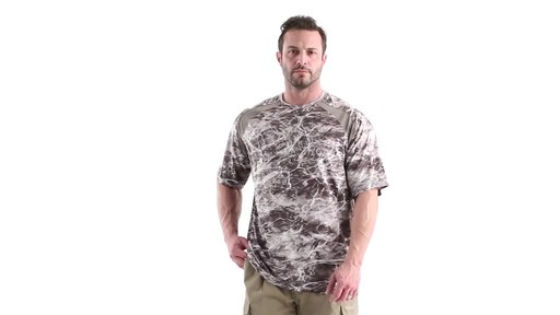 Guide Gear Men's Performance Fishing Short Sleeve Shirt Mossy Oak Elements Agua 360 View - image 8 from the video