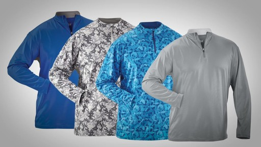 Guide Gear Men's Performance Fishing Pullover Shirt Quarter Zip - image 10 from the video