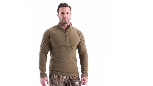 Guide Gear Men's Heavyweight Fleece Base Layer Quarter Zip Top 360 View - image 1 from the video