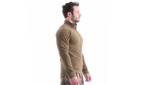 Guide Gear Men's Heavyweight Fleece Base Layer Quarter Zip Top 360 View - image 3 from the video