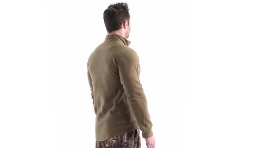 Guide Gear Men's Heavyweight Fleece Base Layer Quarter Zip Top 360 View - image 4 from the video