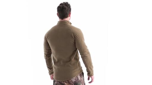 Guide Gear Men's Heavyweight Fleece Base Layer Quarter Zip Top 360 View - image 5 from the video