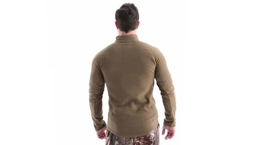 Guide Gear Men's Heavyweight Fleece Base Layer Quarter Zip Top 360 View - image 6 from the video