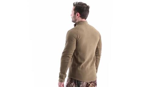 Guide Gear Men's Heavyweight Fleece Base Layer Quarter Zip Top 360 View - image 7 from the video