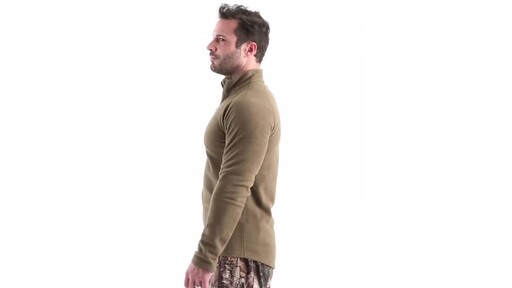Guide Gear Men's Heavyweight Fleece Base Layer Quarter Zip Top 360 View - image 8 from the video