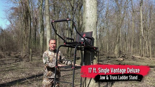 Primal Tree Stands 22' Mac Daddy Deluxe Ladder Tree Stand With Jaw And Truss Stabilizer System - image 1 from the video