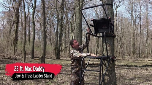 Primal Tree Stands 22' Mac Daddy Deluxe Ladder Tree Stand With Jaw And Truss Stabilizer System - image 10 from the video