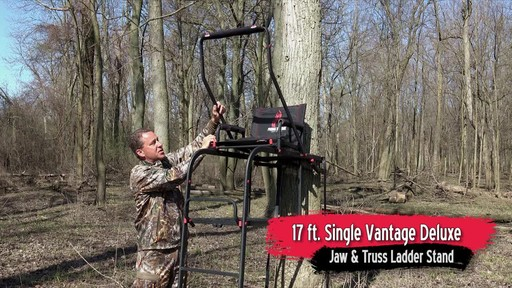 Primal Tree Stands 22' Mac Daddy Deluxe Ladder Tree Stand With Jaw And Truss Stabilizer System - image 3 from the video