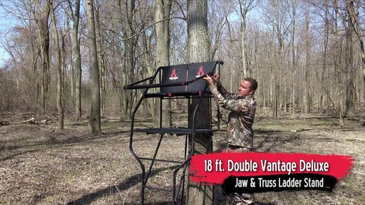 Primal Tree Stands 22' Mac Daddy Deluxe Ladder Tree Stand With Jaw And Truss Stabilizer System - image 8 from the video