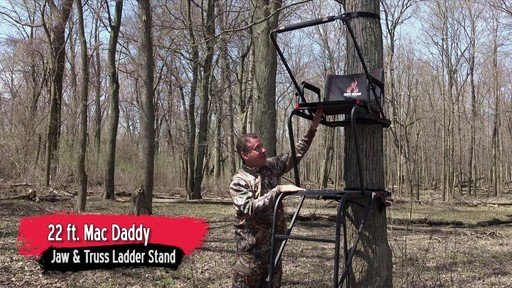 Primal Tree Stands 22' Mac Daddy Deluxe Ladder Tree Stand With Jaw And Truss Stabilizer System - image 9 from the video