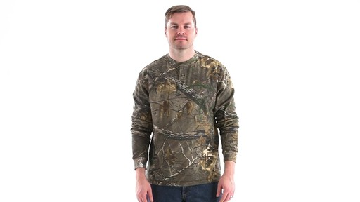 Guide Gear Men's Realtree Xtra Henley Shirt 360 View - image 1 from the video