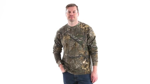 Guide Gear Men's Realtree Xtra Henley Shirt 360 View - image 10 from the video