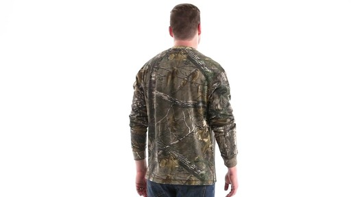 Guide Gear Men's Realtree Xtra Henley Shirt 360 View - image 5 from the video