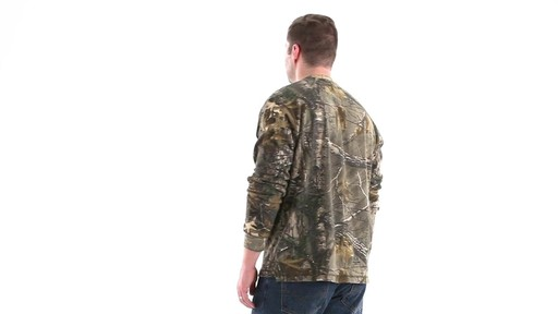 Guide Gear Men's Realtree Xtra Henley Shirt 360 View - image 7 from the video
