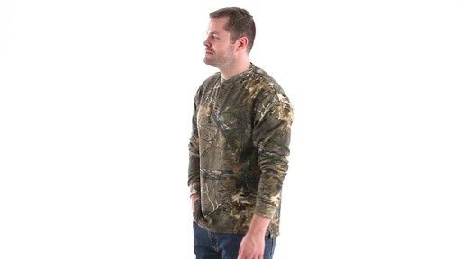 Guide Gear Men's Realtree Xtra Henley Shirt 360 View - image 9 from the video