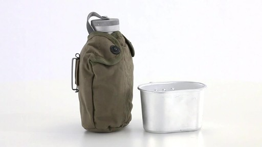 Italian Military Surplus Canteen Cup and Cover Set New 360 View - image 6 from the video