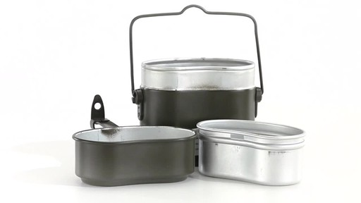 German Military Surplus Mess Kit Olive Drab New 360 View - image 1 from the video